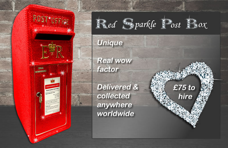 Red Sparkle Post Box for Hire