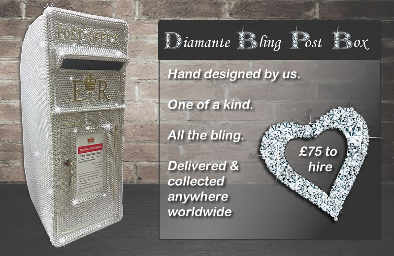 Diamante post box for hire