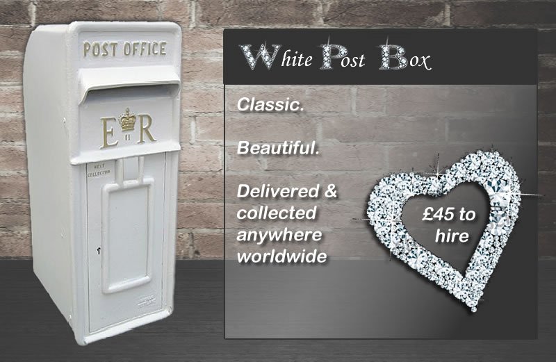 White Post Box for Hire