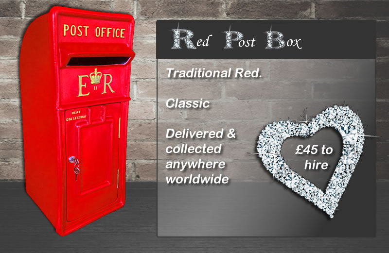 Traditional Red Post Box for hire