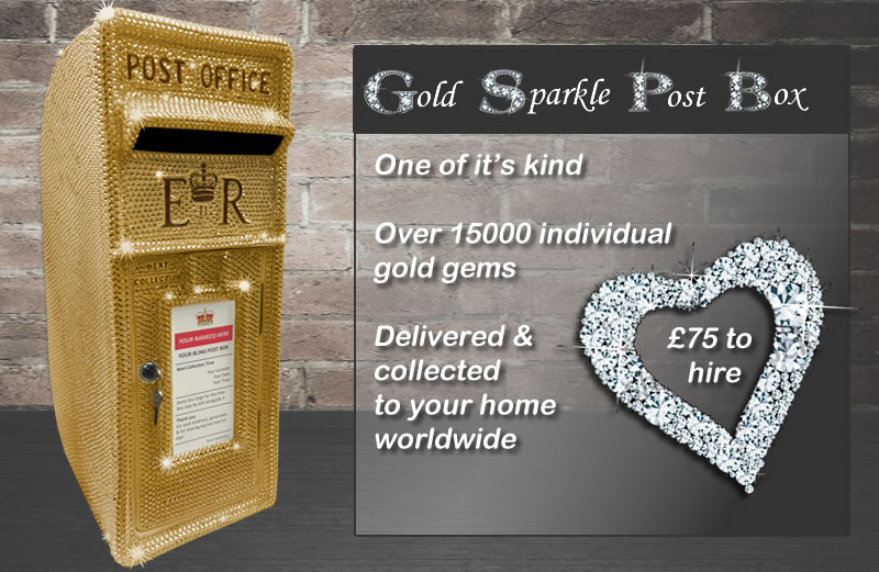Diamante post box for hire